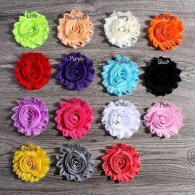 Chic Shabby Chiffon Flowers For Baby Hair Accessories For Headbands DIY 30pcs segunda mano  Embacar hacia Argentina
