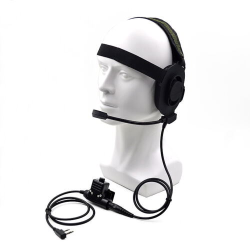HD01 Bowman Elite II Tactical Headset Earpiece U94 PTT for Kenwood Baofeng UV5R