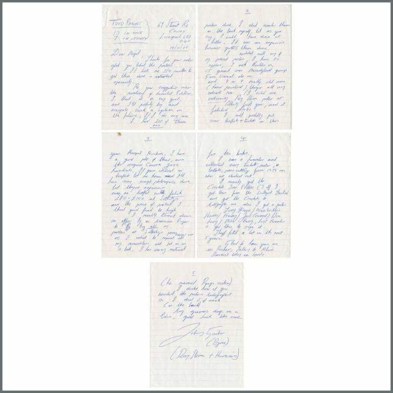 Johnny Guitar 1988 Handwritten Letter (UK)