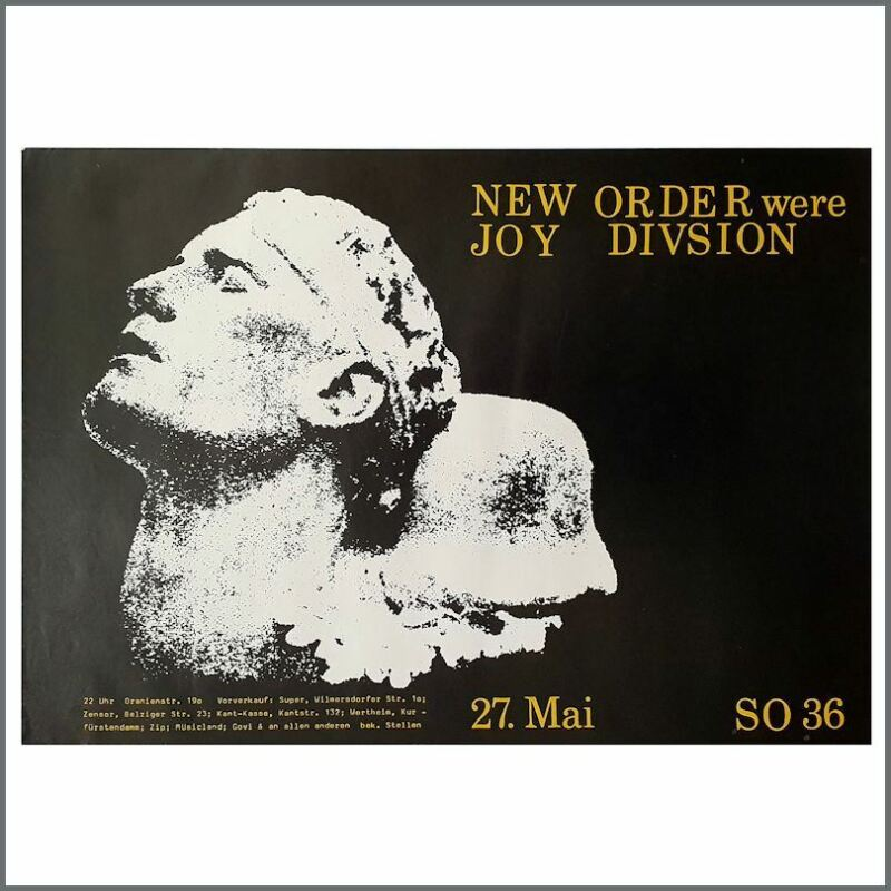 New Order 1981 SO36 Berlin Concert Poster (Germany)