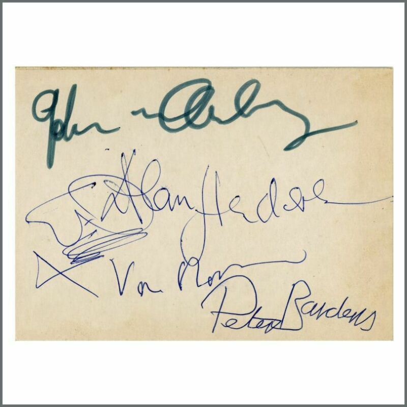Van Morrison Them 1960s Autographed Card