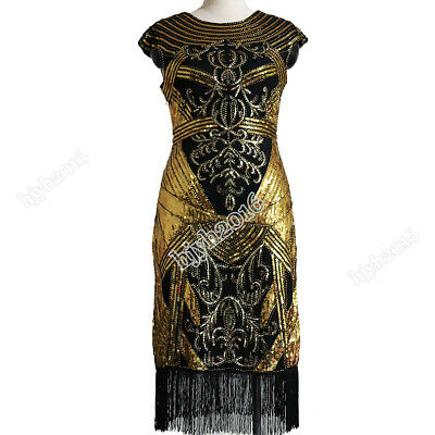 1920s Flapper Dress Great Gatsby Charleston Party Sequined Halloween Costume  - Halloween Costume 1920s Flapper