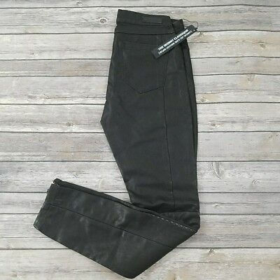Back Zip Leather Jeans - BLANK NYC WOMENS SKINNY CLASSIQUE VEGAN LEATHER BACK ZIP BLACK $98