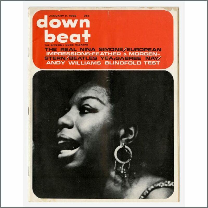 The Beatles / Nina Simone 1968 Down Beat Magazine (USA)