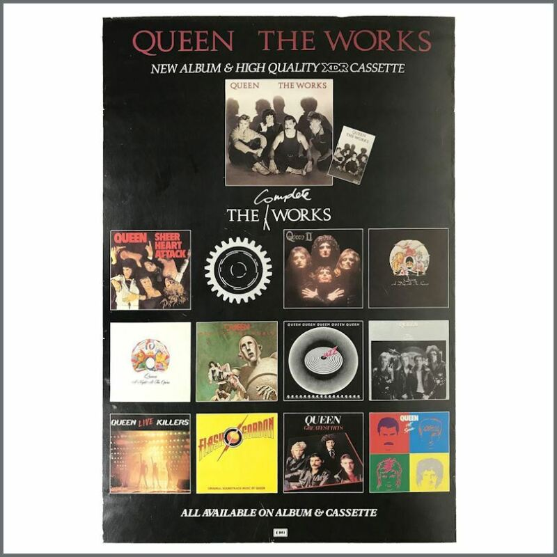 Queen 1985 The Complete Works EMI Records Promotional Poster (UK)