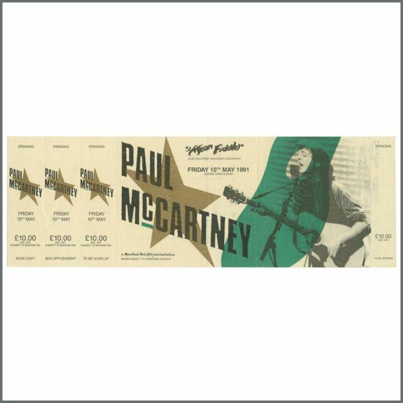 Paul McCartney 1991 Mean Fiddler London Complete Concert Ticket (UK)