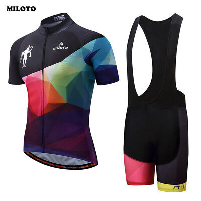 MILOTO Team Mens Cycling Ropa Ciclismo Bike Short Sleeve Clothing Bicycle Sports