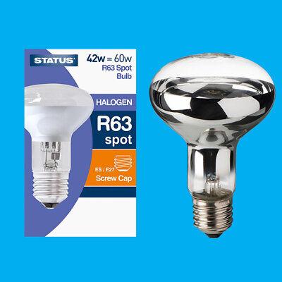 100x 42W (=60W) Halogen R63 Dimmable Clear Reflector Spot Light Lamp ES E27 Bulb Spot Lamp 60w Screw