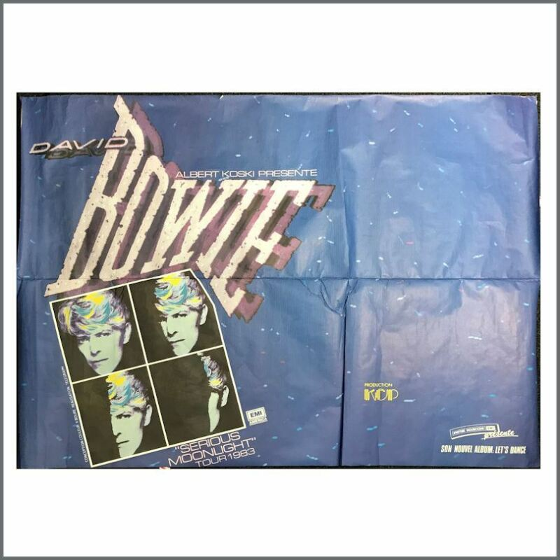 David Bowie 1983 Serious Moonlight Concert Poster (France)