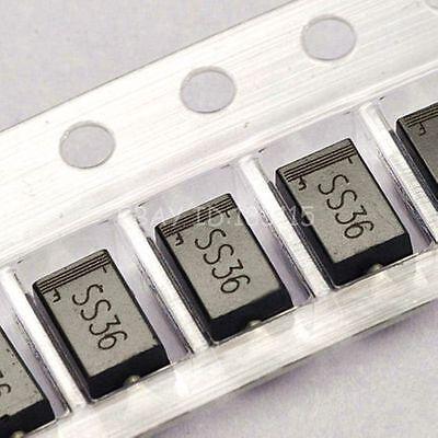 50pcs Ss36 Sr360 3a60v Sma Do-214ac Smd Schottky Diodes