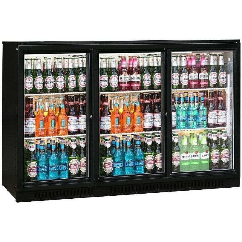 Commercial Triple 3 Door Bar Bottle Display Cooler Fridge Beer Wine