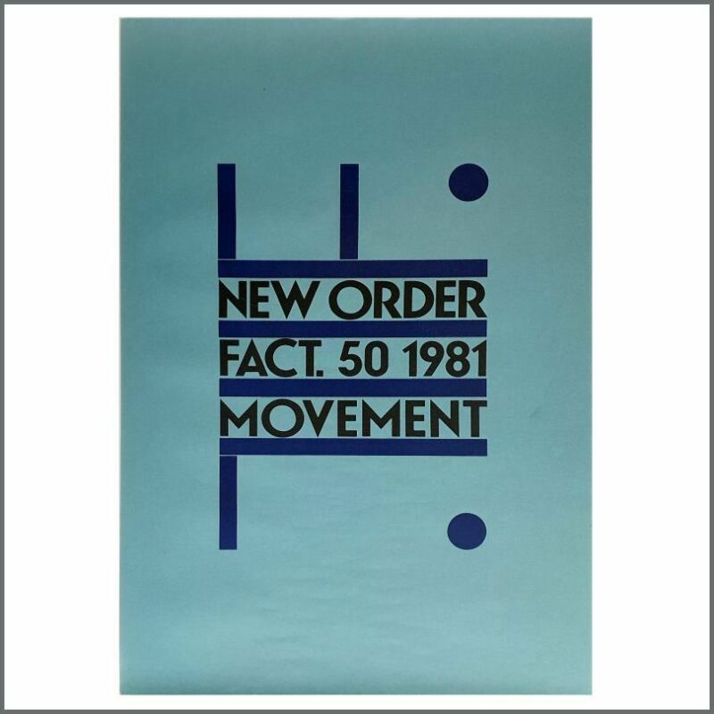 New Order 1981 Movement Promotional Poster (UK)
