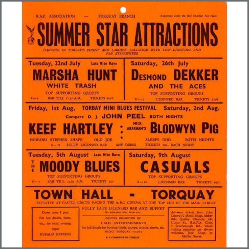 Moody Blues/Blodwyn Pig 1969 Window Card (UK)