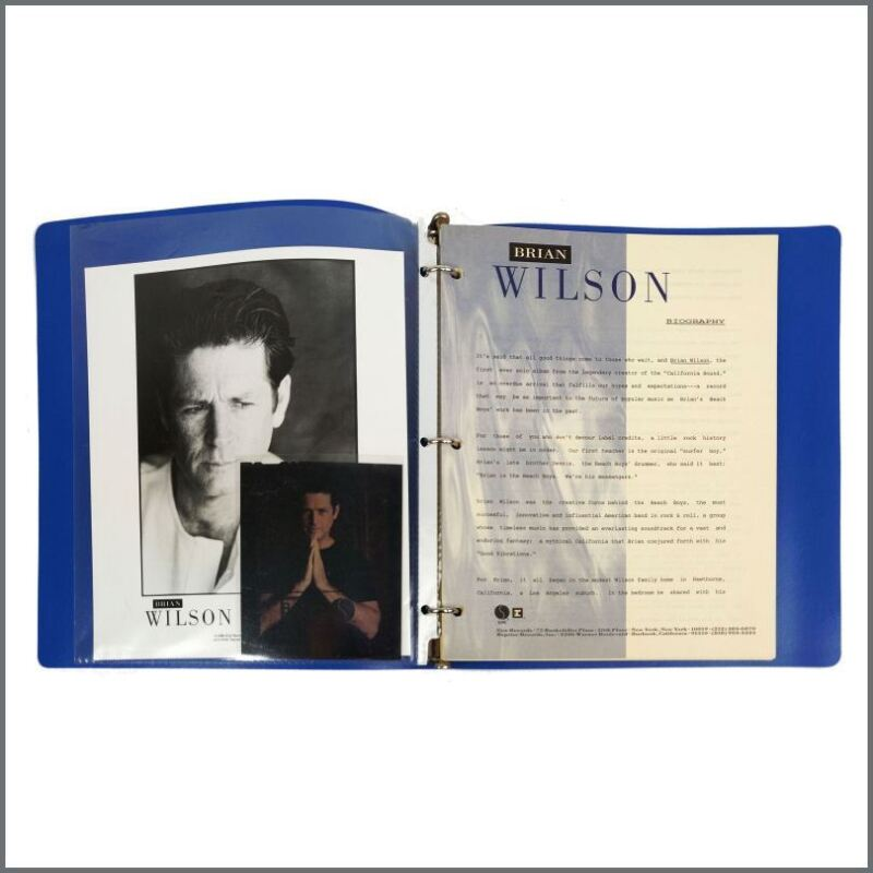Brian Wilson 1988 Self-Titled Album Promotional Press Kit (USA)