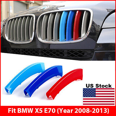 M-Tech Kidney Grill Grille 3 Colour Cover Clips for BMW X5 E70 Year - M & M Colors