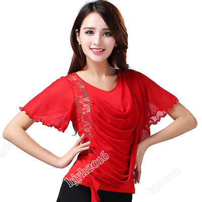 Women Ballroom Dance Costumes Competition Tops Latin Tango Modern Waltz Blouses (Ballroom Costumes)