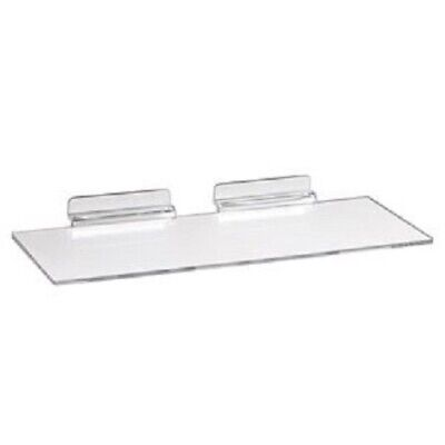 New Slatwall 10 X 4clear Acrylic Shoe Display Shelf 5 Pack
