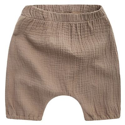 Shorts Children Boys Toddler Solid Cotton Linen Baby Kids Clothes Bottom Pants