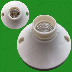 Zócalo 12x Pequeño Rosca Edison SES E14 Lámpara Bombilla Soporte de fijación de superficie