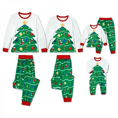 USA Children Adult Family Matching Christmas Pajamas Sleepwear Nightwear Pyjamas (Matching Family Pajamas Christmas)