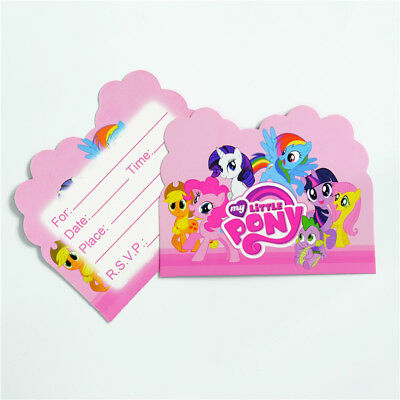 My Little Pony Birthday Party Invitations 8 pieces Kids US Seller -