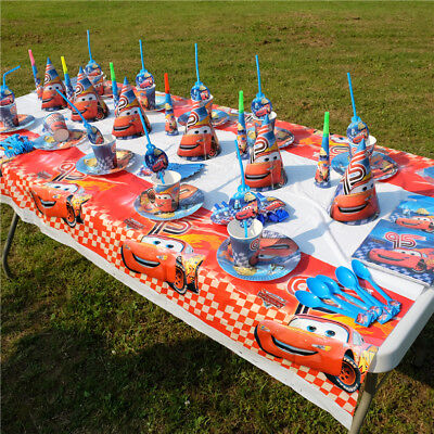 Kid Lightning Mcqueen Cars Birthday Party Boys Supplies Tableware Decor Napkins ()