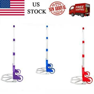 165lb Portable Luggage Cart Aluminum Folding Hand Dolly Push Truck Warehouse