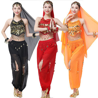 Sexy Arab Belly Dance Set Indian Outfits Sequins Carnival Costume Performance ](Arabian Dance Costume)