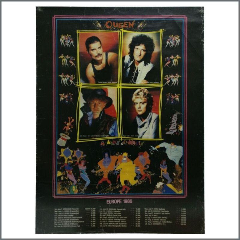 Queen 1986 Magic European Tour Poster (Europe)