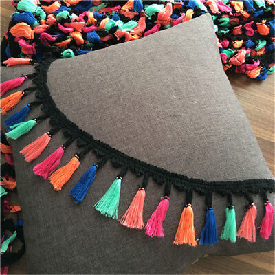 - 2Yards Colorful Tassel Fringe Trim Braid Lace Ribbon Sewing Crafts 2.95'' Width