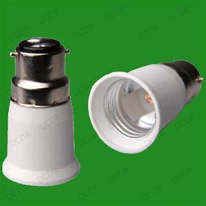 Bayonet BC B22 To ES E27 Screw Light Bulb Adaptor Lamp Fitting Converter Holder