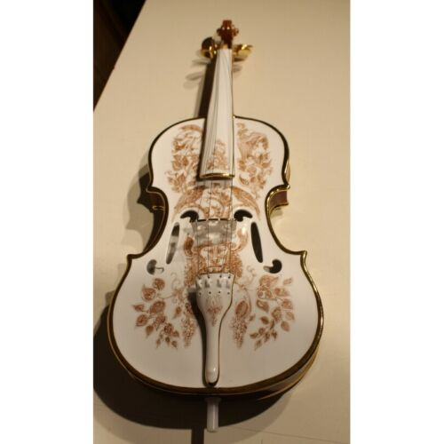 Vintage 20th Hungary Rare Porcelain violin signed Endre SZASZ 83