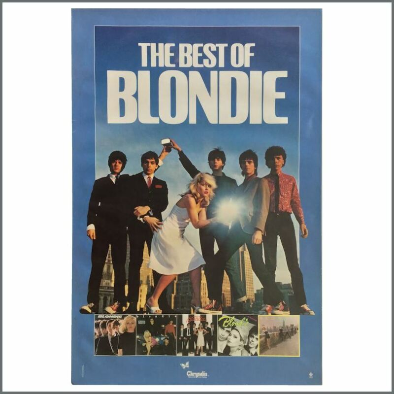 Blondie 1981 The Best Of Blondie Chrysalis Records Promotional Poster (USA)