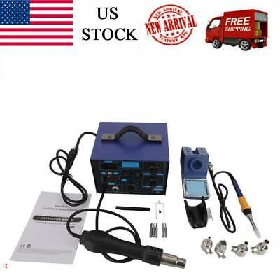 2in1 862dsmd Soldering Iron Hot Air Rework Station Hot Air Gundigital Display