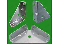 4x 65mm Cranked Corner Gusset Brace Angle Brackets Furniture Kitchen Cabinet