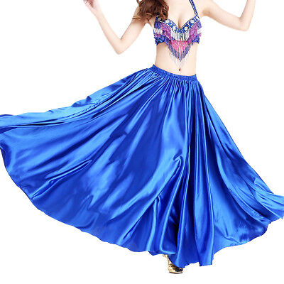 Arabic Belly Dancing Costumes Skirt Satin Halloween Party Performance Wear - Arabic Belly Dance Dress