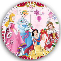 Disney Princess Frameless Borderless Wall Clock Nice For Gifts or Decor Z48