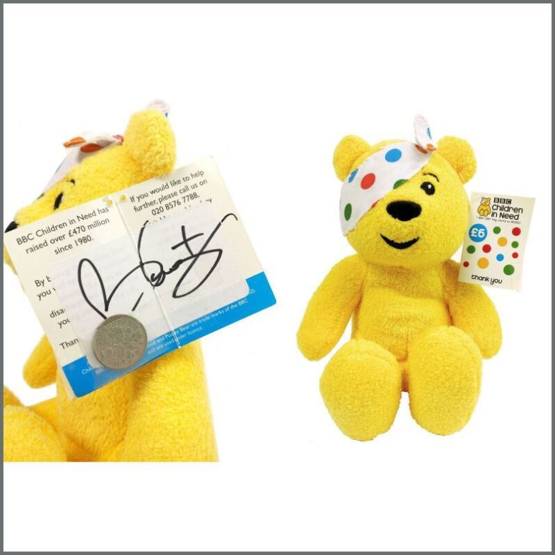 Queen Brian May 2007 Autographed Children In Need Pudsey Bear (UK)
