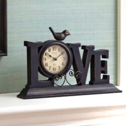 Better Homes And Gardens Love Bird Mantle Clock New in Box