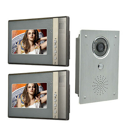 7 Inch Video Door Phone Doorbell Intercom system video interphone 2-Monitor
