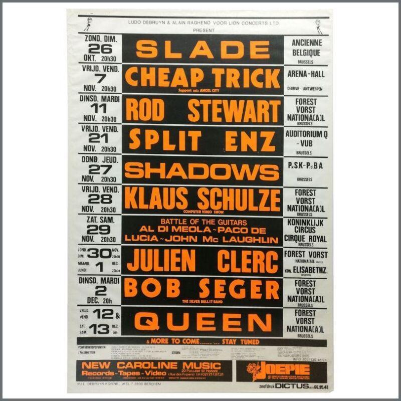Queen 1980 Forest Vorst Nationaal Brussels Concert Poster (Belgium)