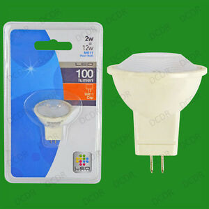 2x-2W-LED-Ultra-Bassa-Energia-Accensione-Immediata-Perla-MR11-Lampadina