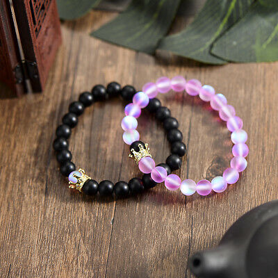 Couple King Queen Crown Bracelets His And Her Friendship 8mm Beads Bracelets New](Beaded Friendship Bracelets)