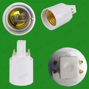 30x g24 4 pin to e27 es screw light bulb socket lamp. Black Bedroom Furniture Sets. Home Design Ideas