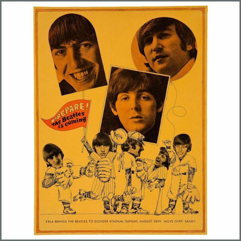 Beatles 1966 Dodger Stadium LA Penultimate Performance Concert Poster (USA)