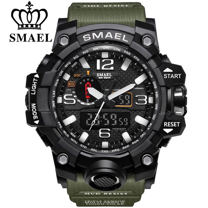 SMAEL Armbanduhr LED Digitaluhr Analog Sportuhr Militär Outdoor Wasserdicht 50m