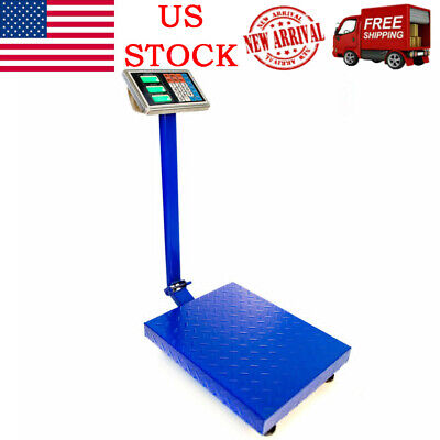 660lbs Weight Computing Digital Floor Platform Scale Postal Shipping Mailing Us