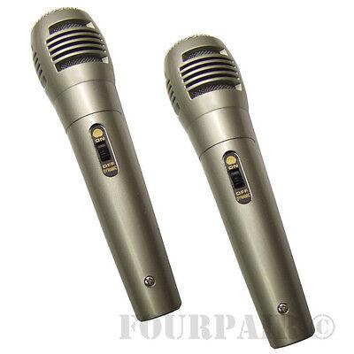 2 Pack Lot, Dynamic Uni-Directional Wired Microphone Mic 10ft Cord DJ PA Karaoke