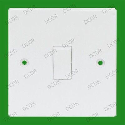 Blanco 1 Toma 3 Salidas Intermedio Red Eléctrica Pared Luz Interruptor, 10A...