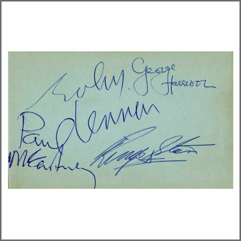 The Beatles 1964 A Hard Day's Night Autographs (UK)